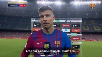 Piqué comemora vitória em estreia na LaLiga. DUGOUT