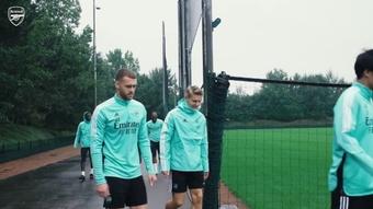 Arsenal prépare le déplacement à Burnley. dugout