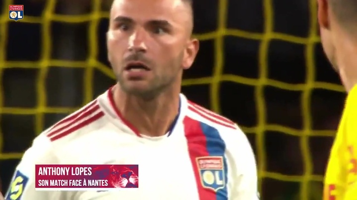 Anthony Lopes fecha o gol e garante vitória do Lyon sobre o Nantes. DUGOUT