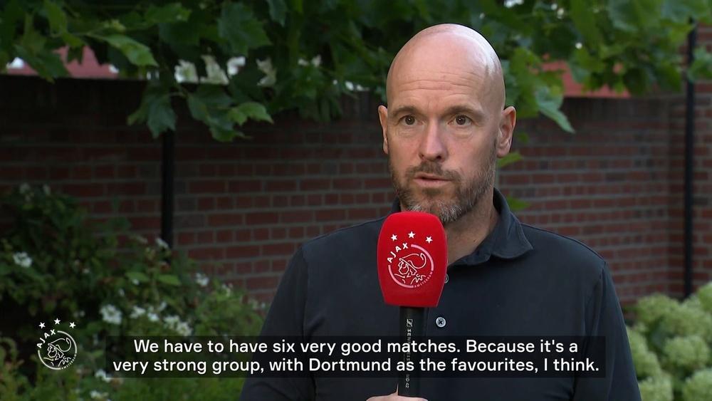 Ajax coach Erik ten Haag spoke about the CL draw. DUGOUT