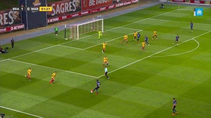 Le premier match de Guendouzi et Saliba avec Marseille. Dugout