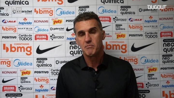 Vagner Mancini falou com a imprensa após vitória por 1 a 0 sobre o Mirassol. DUGOUT