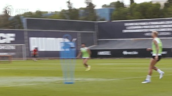 Valencia played their own version of baseball in training. DUGOUT
