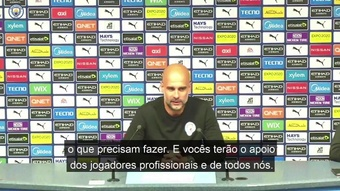 Guardiola fala sobre a estreia de  jovens em vitória do City. DUGOUT