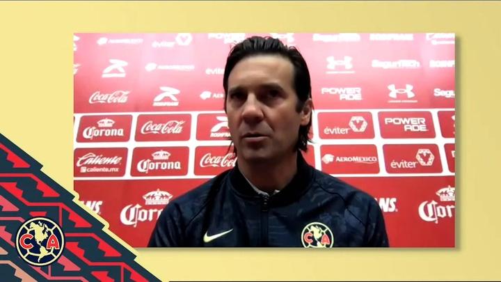 Solari analizó el partido contra Toluca. Dugout