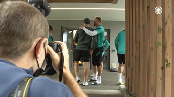 Eriksen has been to see his teammates at the training complex. DUGOUT