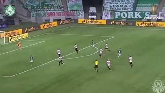 Palmeiras defeated Sao Paulo to make the semi-finals. DUGOUT