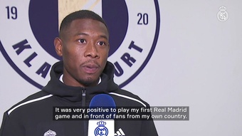 Alaba made his Real Madrid debut. DUGOUT