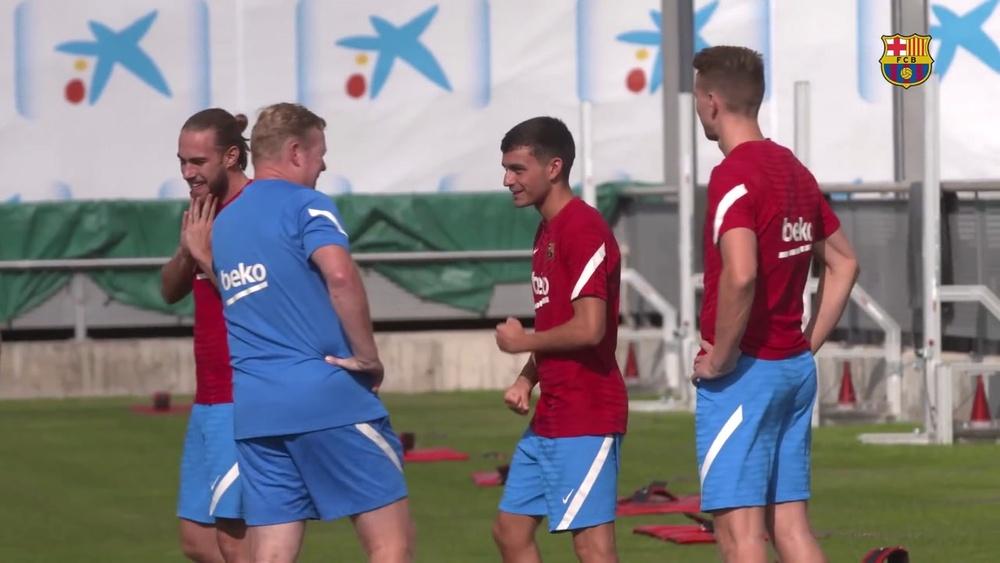 VIDÉO : le premier entrainement de Luuk de Jong avec Barcelone. Dugout