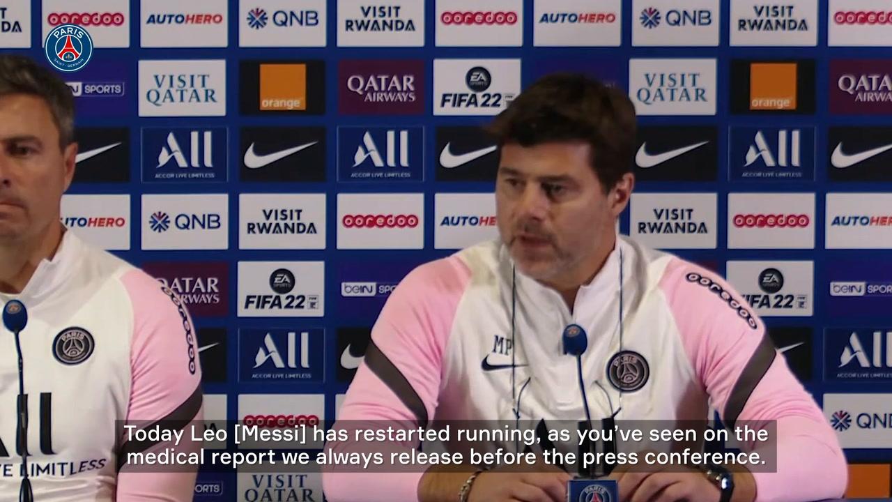 VIDEO: Pochettino gives injury update on Messi