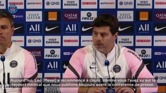 Mauricio Pochettino évoque la blessure de Messi. dugout