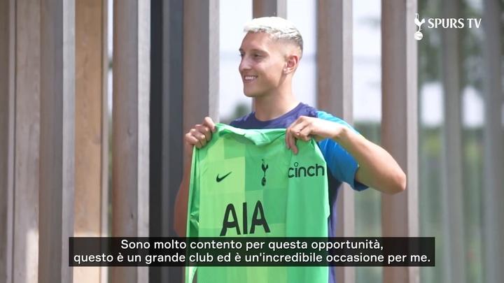 Le prime parole di Gollini al Tottenham. AFP