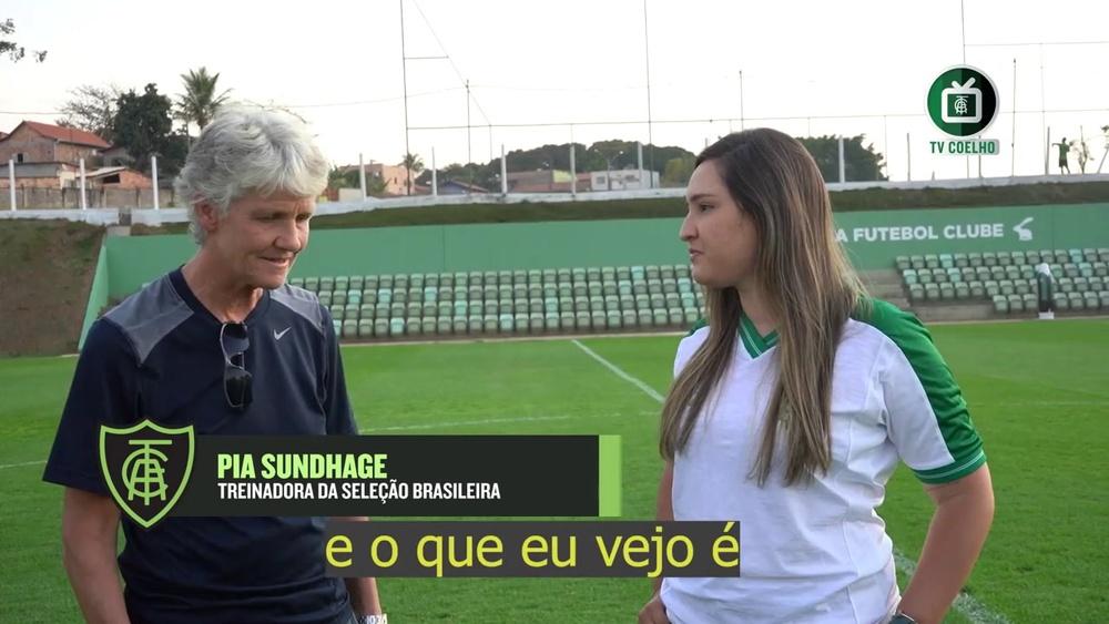 Pia Sundhage elogia estrutura do América-MG. DUGOUT