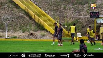Barcelona de Guayaquil se prepara para encarar o Flamengo. DUGOUT