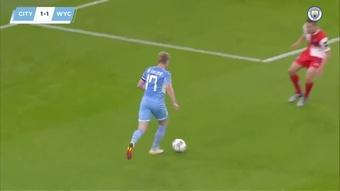 La victoire de Manchester City contre Wycombe. Dugout