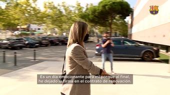 VÍDEO: la felicidad de Alexia tras renovar con el Barça. DUGOUT