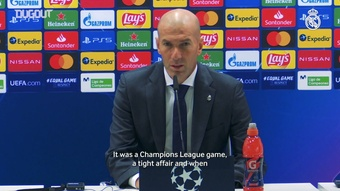 Zidane was happy after Real Madrid's win over Inter. DUGOUT