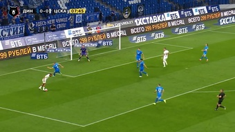 Dynamo Moscow came from behind to beat CSKA in the Russian league. DUGOUT