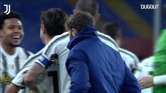 Résumé Genoa 0-3 Juventus. Dugout