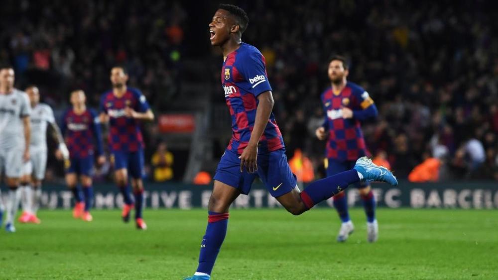 Setien hails Fati after teenager's brace for Barcelona