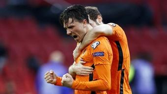 Steven Berghuis scored the opener as Netherlands beat Latvia. GOAL