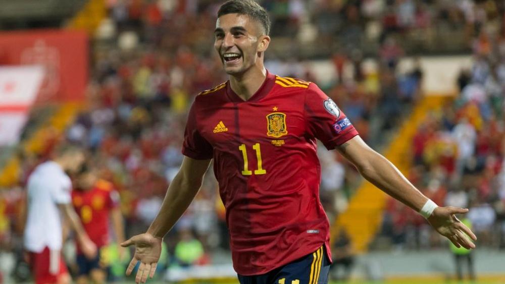Ferran Torres scored as Spain beat Georgia 4-0. GOAL