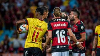 Técnico do Barcelona-EQU joga a pressão para o Flamengo. EFE