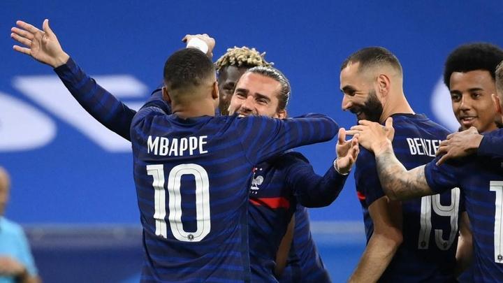 Antoine Griezmann scored as France beat 10 man Wales 3-0. GOAL