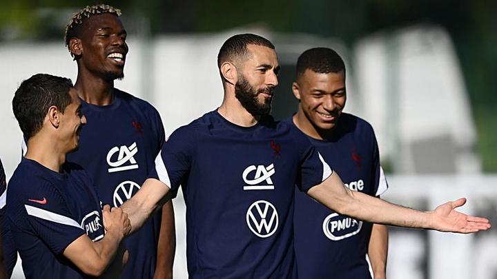 Karim Benzema (C) started for France against Wales. GOAL