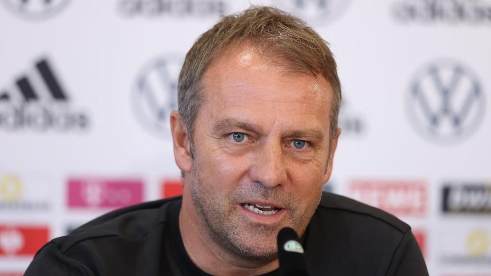 Hansi Flick on his first match as Germany coach. GOAL