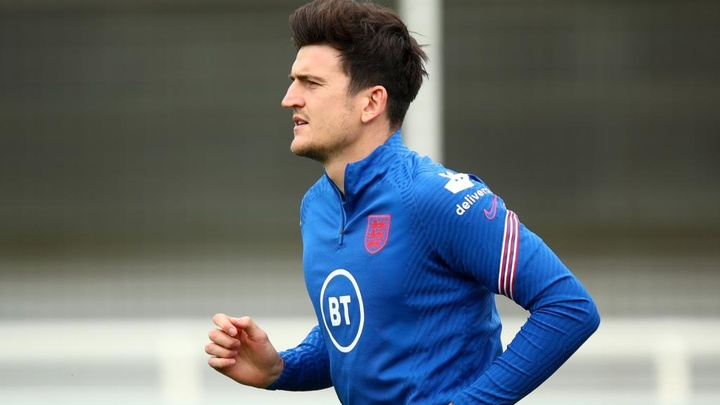 Maguire declares himself fit for England's Euro 2020 clash with Scotland. AFP