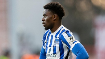 Hertha's Torunarigha was allegedly racially abused during the match. GOAL