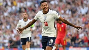 Jesse Lingard helped England retain their 100% record. GOAL