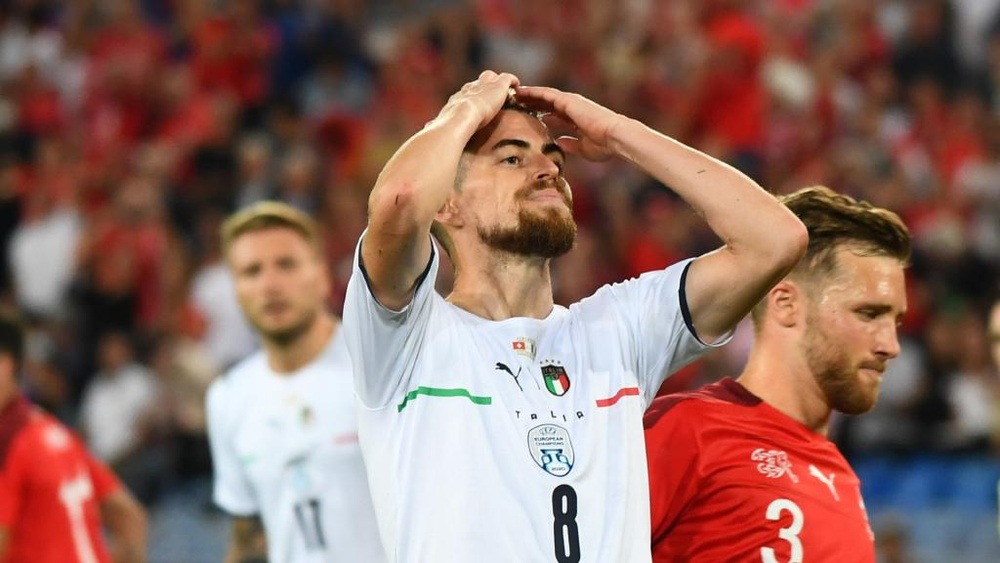 Jorginho missed a spot kick in the draw in Switzerland. GOAL