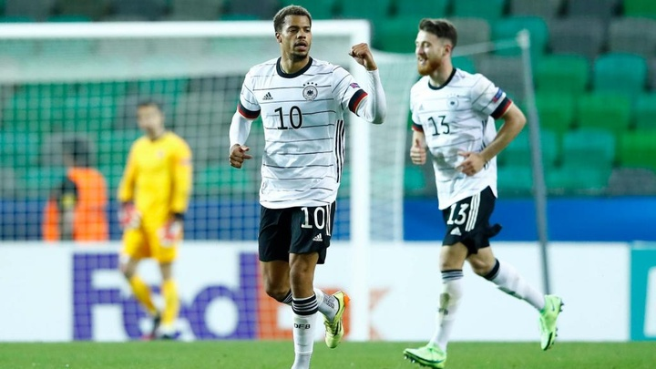 Lukas Nmecha's goal was the difference for the Germans. GOAL