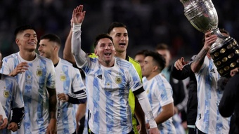 Messi tearful after eclipsing Pele record. AFP