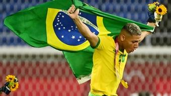 Everton segura Richarlison e se anima após Copa América e ouro nas Olimpíadas. AFP