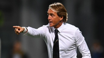 Italy reaction delights Mancini as Azzurri make history with Lithuania win. AFP