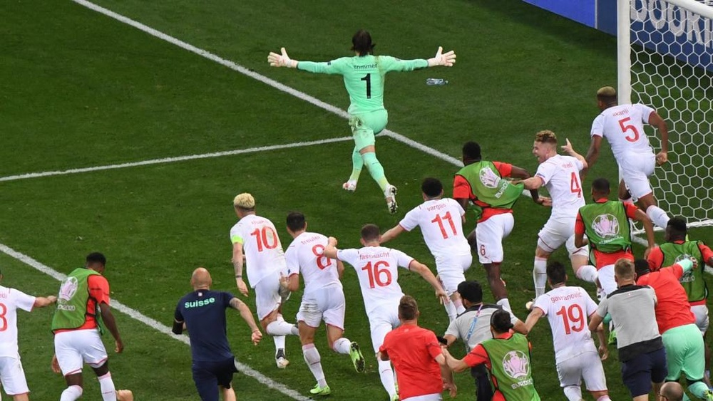 Switzerland made it through to the quarter-finals after beating France on penalties. GOAL