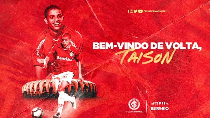 Taison volta para o Inter para ser protagonista