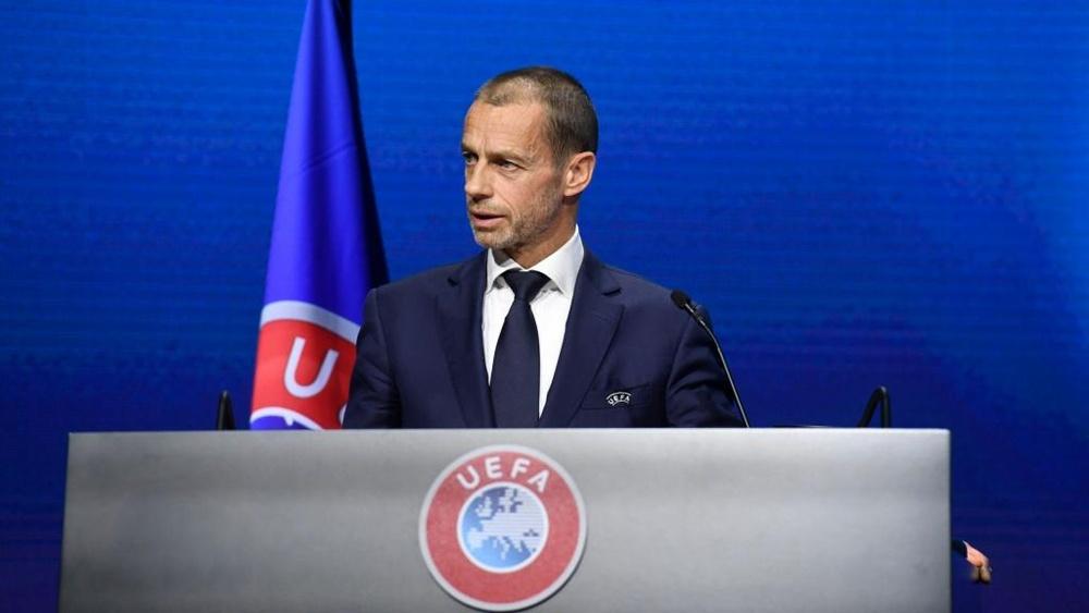 UEFA chief Ceferin reveals 'grave concerns' over FIFA World Cup proposals. AFP