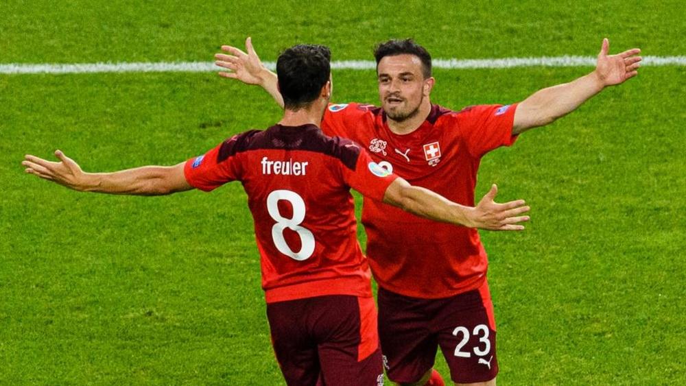 Shaqiri inspired Switzerland to a 3-1 victory over Turkey. GOAL