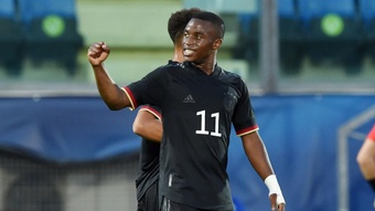 Moukoko motivated by latest record. AFP